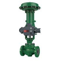 Piston actuator valve / pneumatically-operated / control / for chemicals