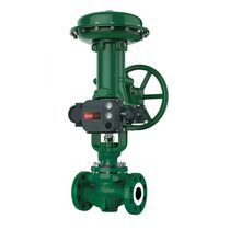 Plug valve / with handwheel / pneumatically-operated / control