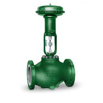 Plug valve / pneumatically-operated / control / stainless steel