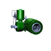Ball valve / pneumatically-operated / control / stainless steel