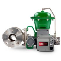 Ball valve / pneumatically-operated / control / flange