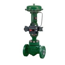 Globe valve / pneumatically-operated / control / cast iron