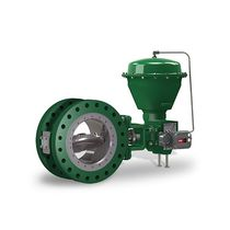 Butterfly valve / pneumatically-operated / control / double-flange