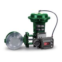 Butterfly valve / pneumatically-operated / control / stainless steel