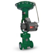 Globe valve / pneumatically-operated / control / iron