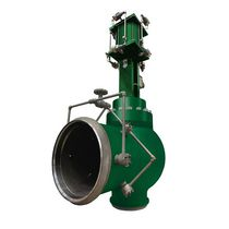 Piston actuator valve / pneumatically-operated / control / for steam