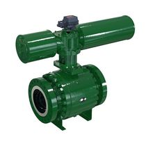 Ball valve / pneumatically-operated / control / carbon steel