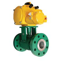 Floating ball valve / pneumatically-operated / shut-off / stainless steel