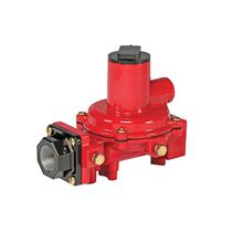 Gas pressure regulator / single-stage / spring / compact