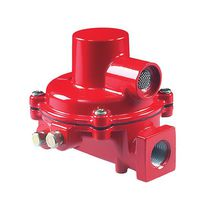 Gas pressure regulator / two-stage / membrane / stainless steel