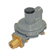 Gas pressure regulator / two-stage / membrane