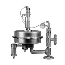 Piston actuator valve / pneumatically-operated / pressure-control / for gas