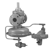 Gas pressure regulator / single-stage / membrane / piloted