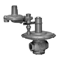 Gas pressure regulator / two-stage / membrane / compact