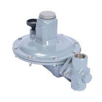 Chemical product pressure regulator / single-stage / membrane / spring-return