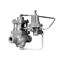 Piston actuator valve / pneumatically-operated / control / regulating