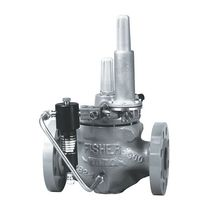 Natural gas pressure regulator and reducer / piston / piloted