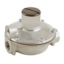 Gas pressure regulator / two-stage / membrane / spring