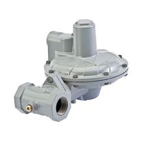 Gas pressure regulator / single-stage / membrane / spring-return