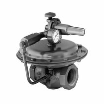 Gas back-pressure regulator / for oil / membrane / compact