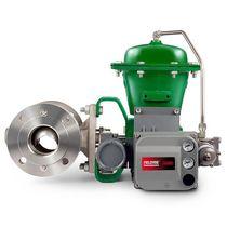 Pneumatic valve actuator / rotary / non-spring return / membrane
