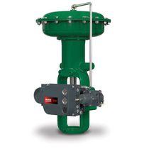 Pneumatic valve actuator / linear / spring-return / membrane