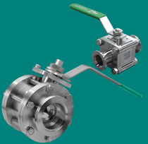 Ball valve / manual / control / stainless steel
