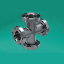 Flange fitting / cross / hydraulic / stainless steel