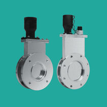 Gate valve / pneumatic / shut-off / double-flange