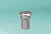 Non-threaded end cap / round / stainless steel