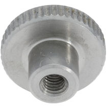Knurled nut / steel / stainless steel / threaded