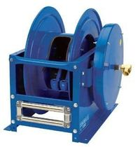 Hose reel / self-retracting / dual-pedestal / open