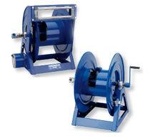 Hose reel / motorized / hand crank / open-drum
