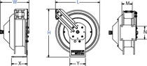 Cable reel / self-retracting / fixed / heavy-duty
