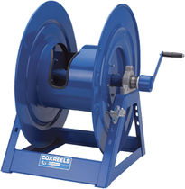 Cable reel / for hose / motorized / hand crank