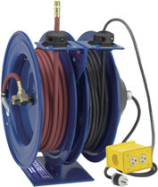 Pneumatic hose reel / cable / self-retracting / double