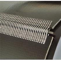 Staple hinge fastener conveyor belt fastener