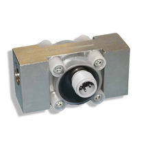 Turbine flow meter / for corrosive fluids / in-line