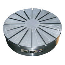 Electro-permanent magnetic chuck / circular / for grinding / with T-slots
