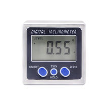 Digital inclinometer / with LCD display / for angle measurement