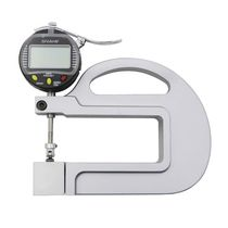 Digital display thickness gauge / handheld / with roller insert