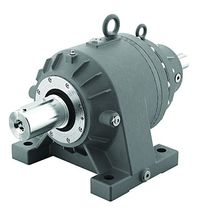 Planetary gear reducer / hollow-shaft / for shafts / foot-mounted