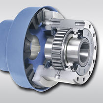 Bearing-mounted one-way clutch / with coupling / full-face / sprag
