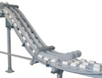 Roller conveyor / aluminum / inclined / transport