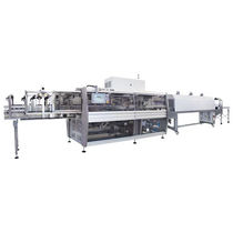Automatic shrink wrapping machine / bottle / for cardboard boxes / for heat-shrink films