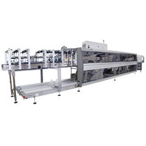 Automatic shrink wrapping machine / bottle / for trays / for cardboard boxes
