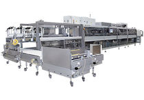 Wrap-around tray packer sleeve wrapping machine / automatic / bottle