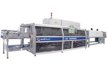 Automatic shrink wrapping machine / with shrink tunnel / with heat shrink film / bottle