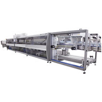 Automatic shrink wrapping machine / for bottles / for trays / box