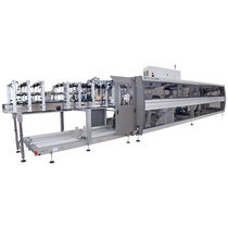 Wrap-around case packer / automatic / for bottles / box